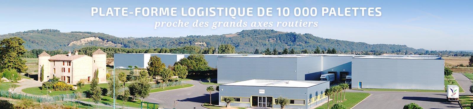 Plate-forme logistique de 10 000 palettes proche des grands axes routiers